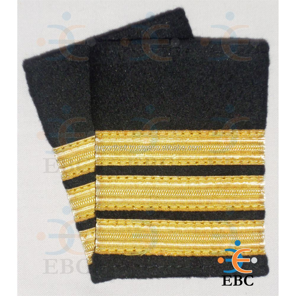 whole sale quality pilot epaulettes rank, pilot stripes, commercial pilot ranks