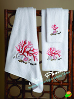 Tip towel high quality 100% linen with embroidery- no 9