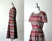 Very wholesale price New Design Lady's Fashionable 50 red dress. 1950's full dress. red & white print dress.