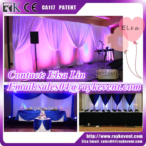 Hotel hall flower backdrop pipe and drape from China factory