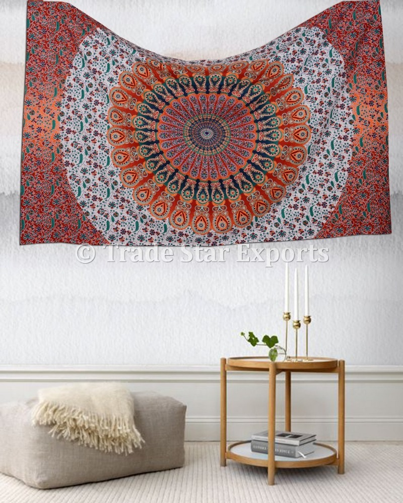Cotton Fabric Indian Mandala Tapestry Mats Wholesale Bohemian Clothing India