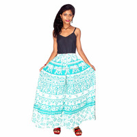Cotton Printed Long Divider Skirt