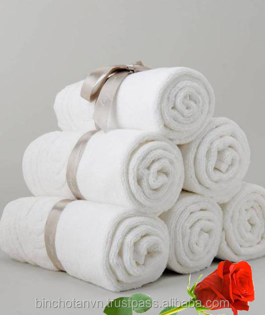 Plain white bath towel for hotel 100% cotton
