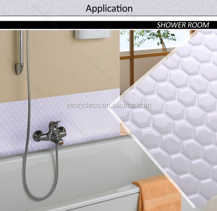 peel and stick hexagon tile