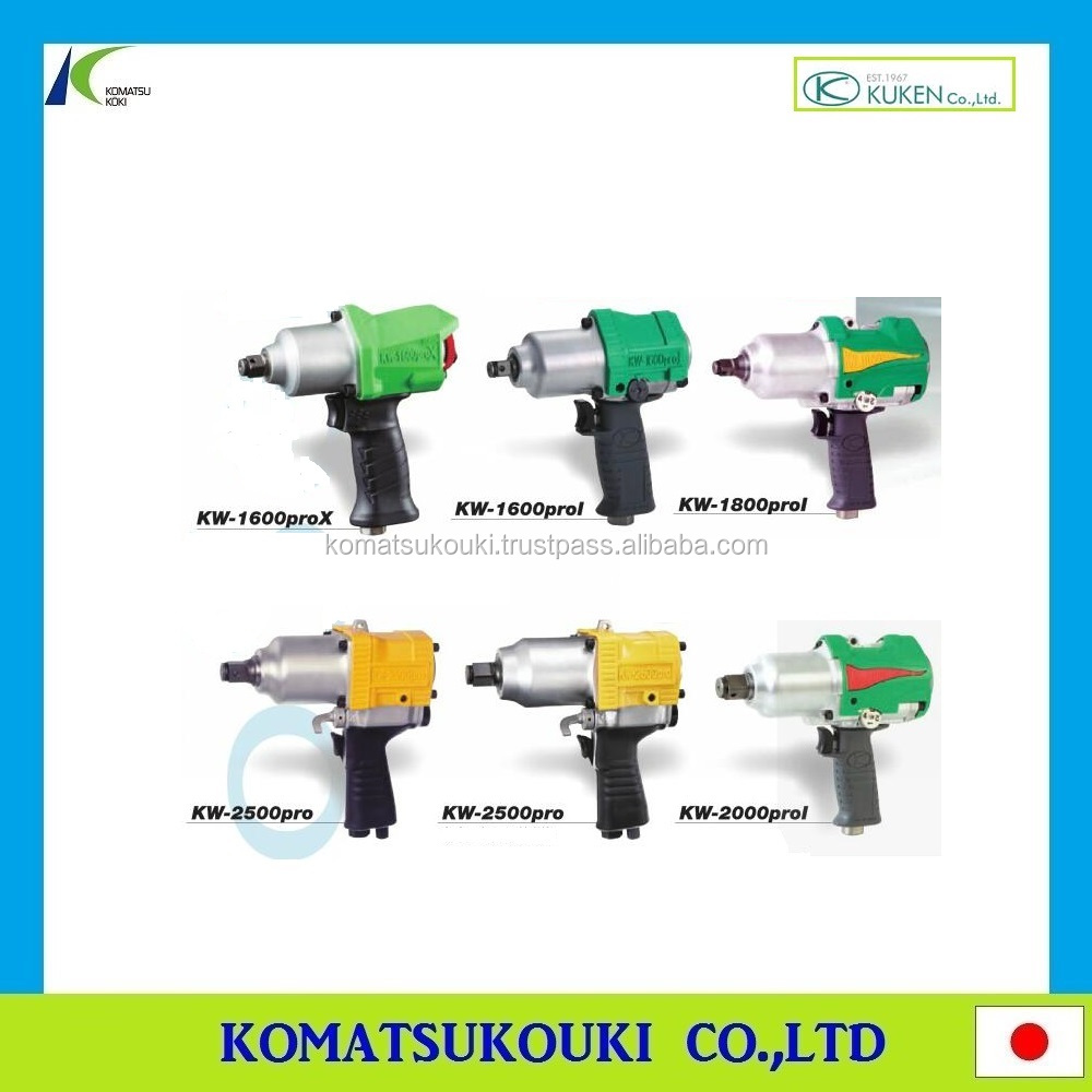 Long life Japan KUKEN air tools impact wrench, fastening/sanding/polishing and grinding tools also available