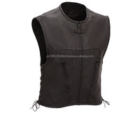 LEATHER VEST MOTORBIKE AND FASHION FOR GENTS OEM AVAILABILITY QUALITY GOODS MANUFACTURER