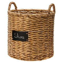 Water hyacinth basket with MDF table to write on. Different shapes and designs to choose
