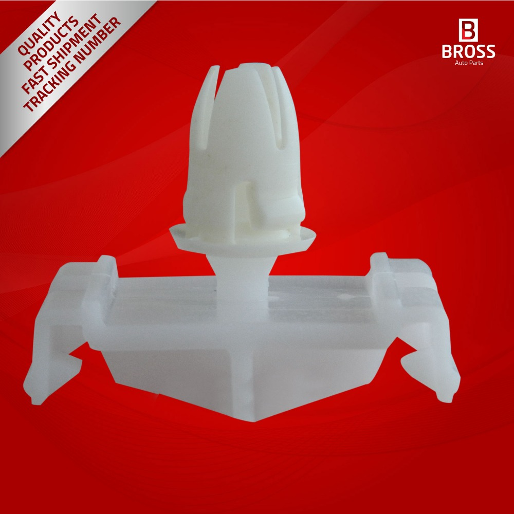 10 Pieces Front Fender & Quarter Panel Moulding Clips With White Rubber Boot for Mercedes Benz: 0019888081