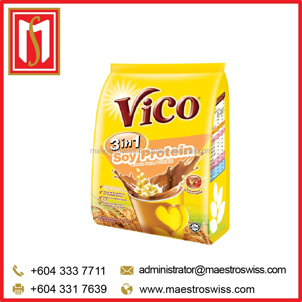 VICO Instant 3 in 1 Soy Protein Chocolate Malt Drink