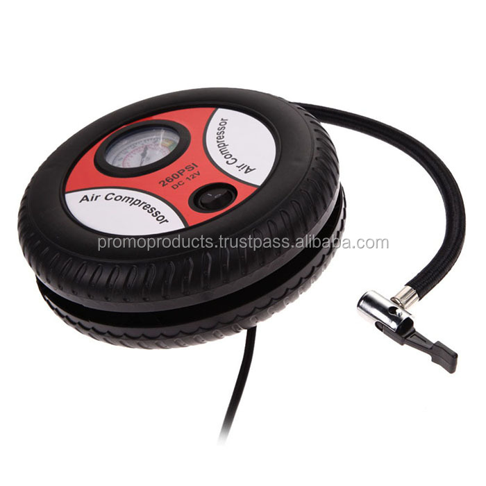 Car Auto Portable Pump Tire Inflator Mini Air Compressor 12V 260PSI Cigarette Lighter Power Supply