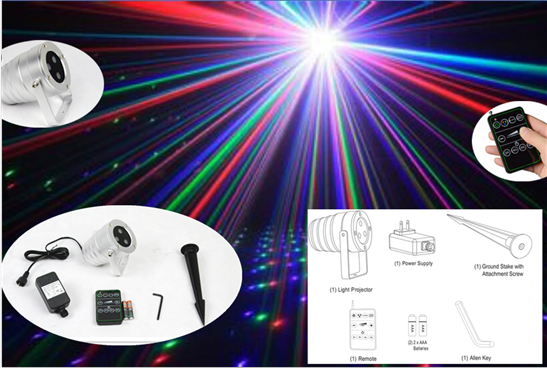 RGB-Outdoor christmas laser lights for christmas decoration IP65 waterproof