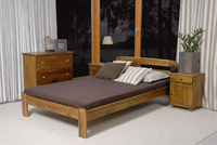 Polish furniture pine bed 120x200 with slatted solid color