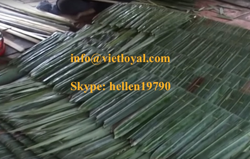 Vietnam Bamboo, Palm, Coconut natural for building roof of resort