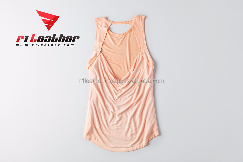 high quality custom women gym stringer tank top