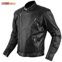 Leather Jacket Armour CE Warm Motorbike Motorcycle Scooter pakistan