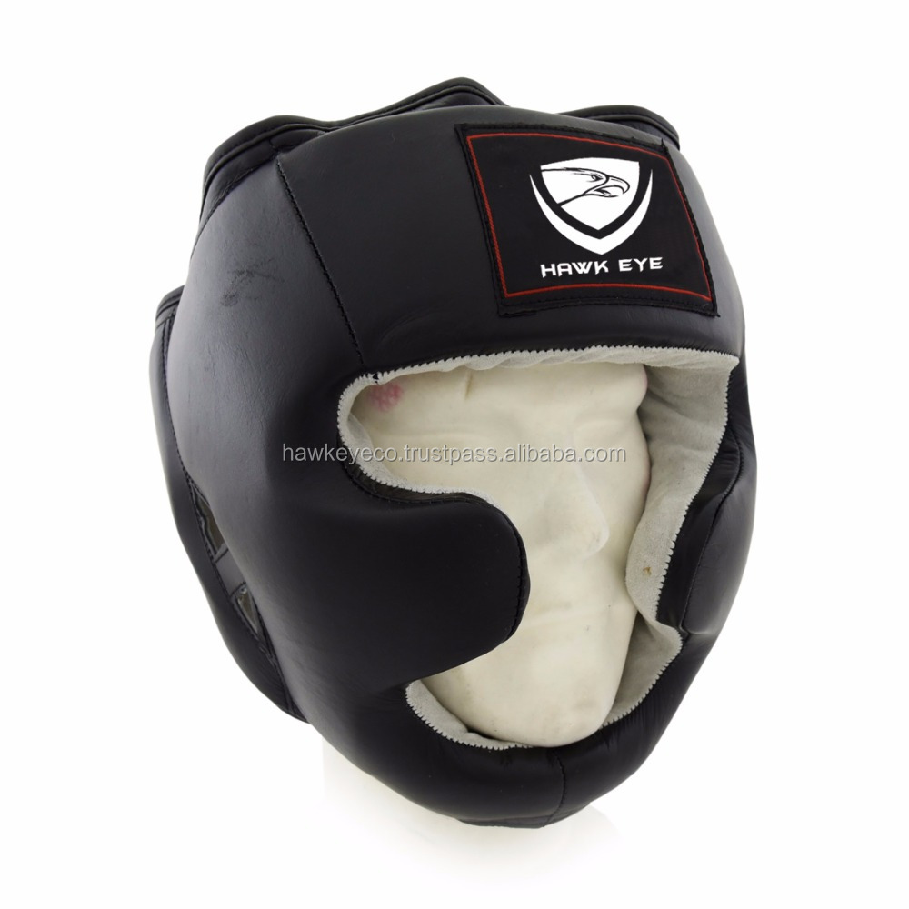 2017 HOT SELL Leather boxing head guard by Hawk Eye Co.