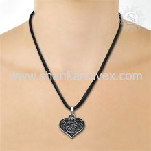 Heart-Warming OM Indian Silver Pendant Wholesale Silver Jewelry 925 Sterling Silver Manufacture