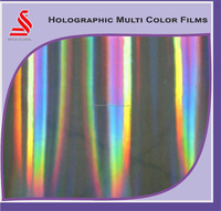 Metallized Holographic Transparent Customized BOPP Lamination Films Hologram Polyester Film