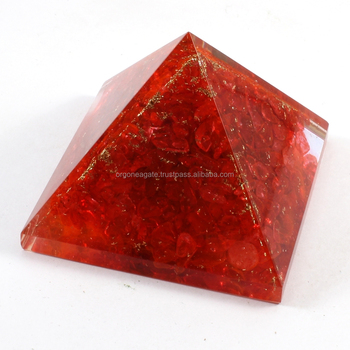 Reiki Pyramid : Big Orgone Red Energy Pyramid Without SBB Coil
