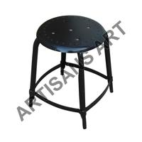Black Round Shape Vintage Industrial Stool, Available In Many Color Variant, Living Room Seating Furniture Wholesale Items