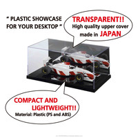Easy to use and Various types of model ship display cases stand with transparent upper cover made in Japan