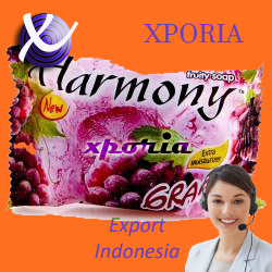 HARMONY Fruity Soap Bar GRAPE 70gr | Indonesia Origin | Cheap popular herbal transparent soap with long lasting fragrance