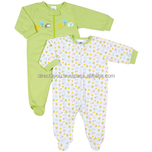 Baby printed Cotton/polyester Footed pajama