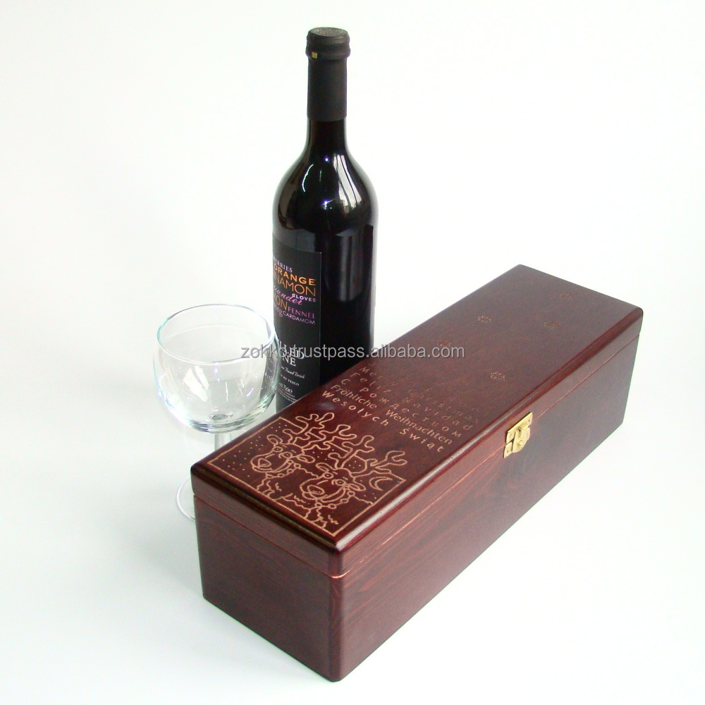 Wooden wine boxes gift package, plywood, MDF veneer, customer production is available
