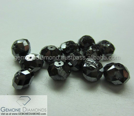 EXCELLENT QUALITY 100% NATURAL LOOSE BLACK DIAMONDS FACETED BEADS
