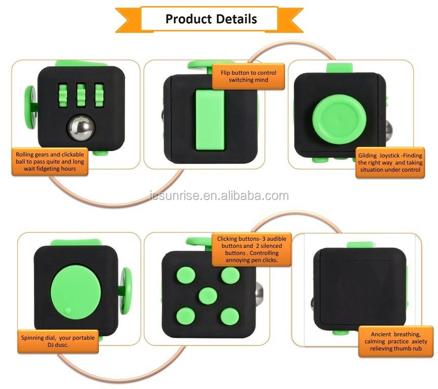 Anti-Stress Fidget Cube Anxiety Reducer Hot Sale New Desk Cube Fidget Toy