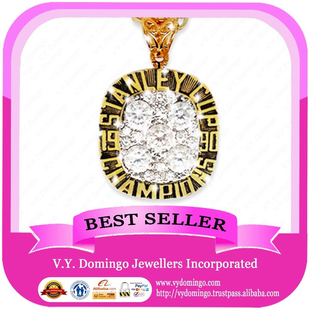 1990 NHL Stanley gold jewelry can custom name and logo pendant factory directly