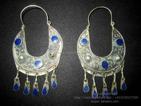 tribal nomad costuming earrings bellydance costuming ear plugs online wholesale supplier kuchi jewellery for sale