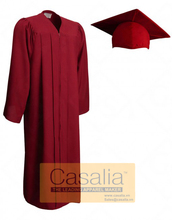 Wholesale Best quality Adult Matte Maroon Graduation Gowns and Caps For School