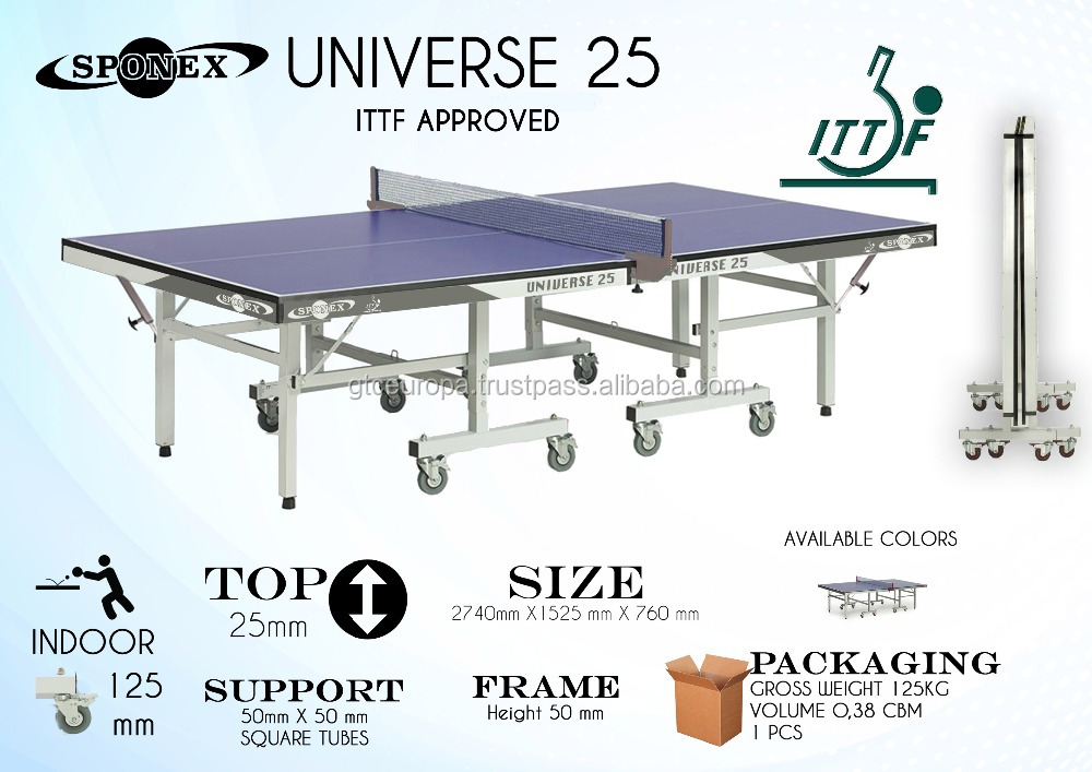 SPONEX UNIVERSE 25 ITTF APPROVED, Table tennis table