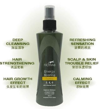 Best Selling Nichiwa Energy Boosting Tonic hair growth Product Private Label Packaging Manufacturing Malaysia