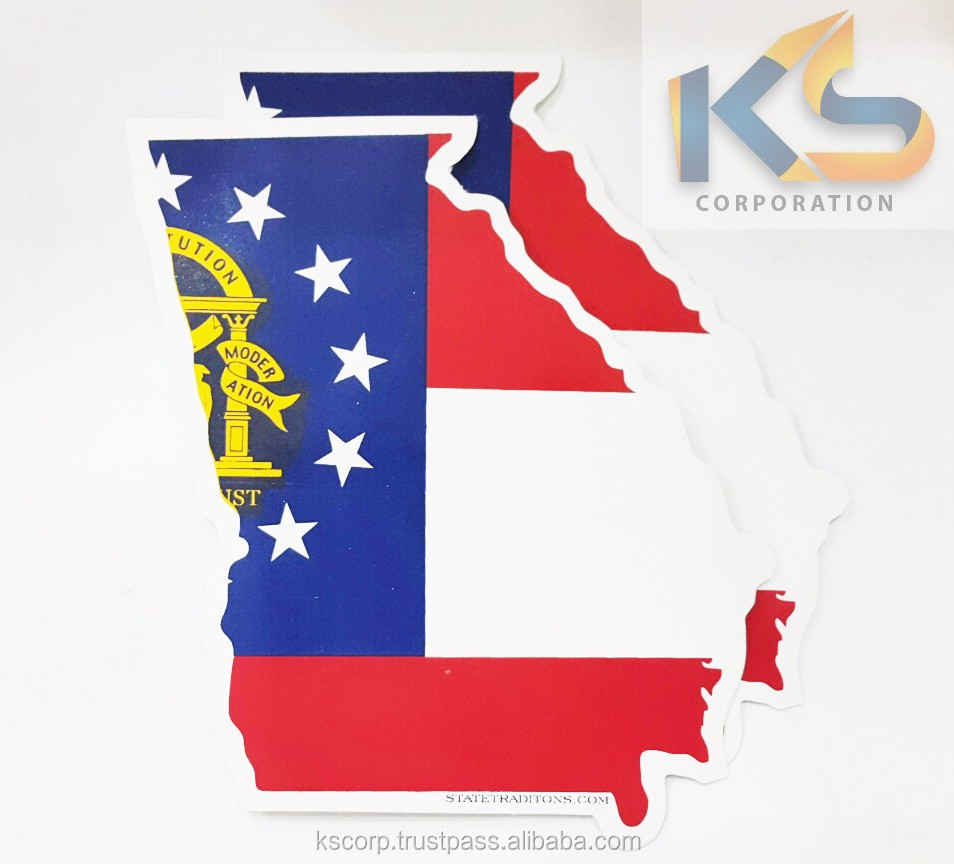 Customize State Map Die cut vinyl stickers screen printed vinyl stickers