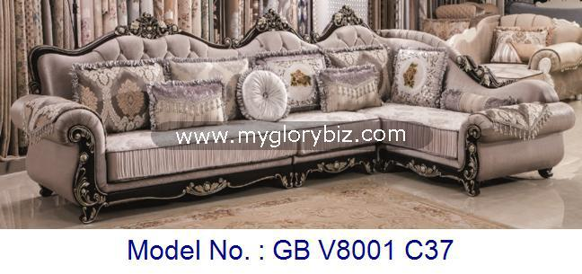 Corner Sofa Set For Living Room Luxury Royal Uphosterly In Antique Appearance With Tradisional Design L Shape