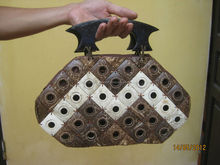 Coconut Shell women bag, eco-friendly, natural handicraft, cheap price