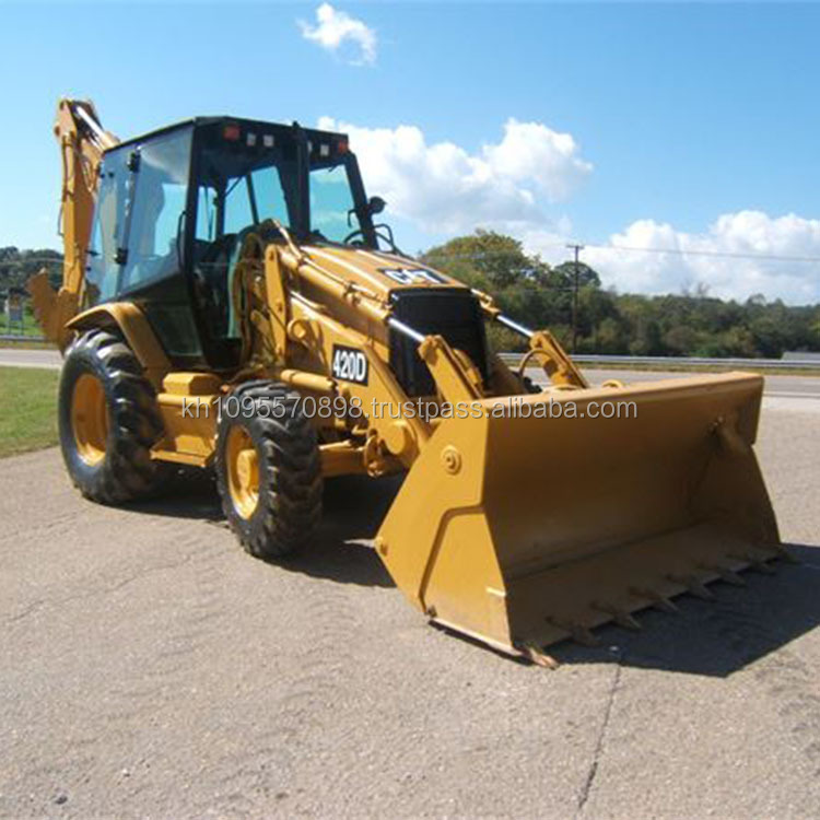Cat 420d used backhoe loader for sale in Shanghai China, cat 420 backhoes