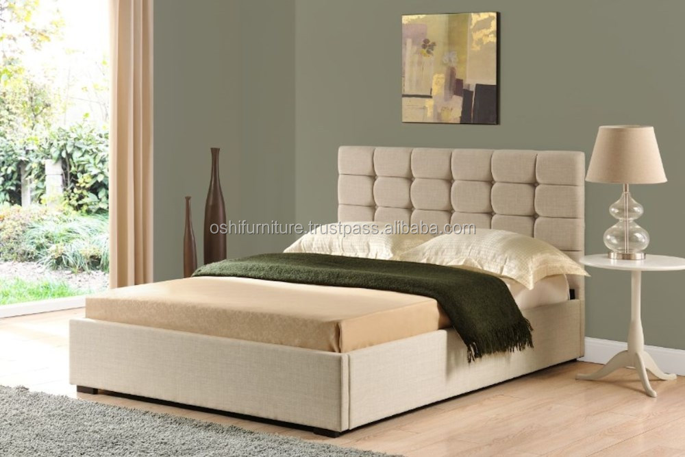 Hot sales Tufted Upholstery Bed, Fabric Leather bed, bedroom furniture, Double, Queen, King size bed