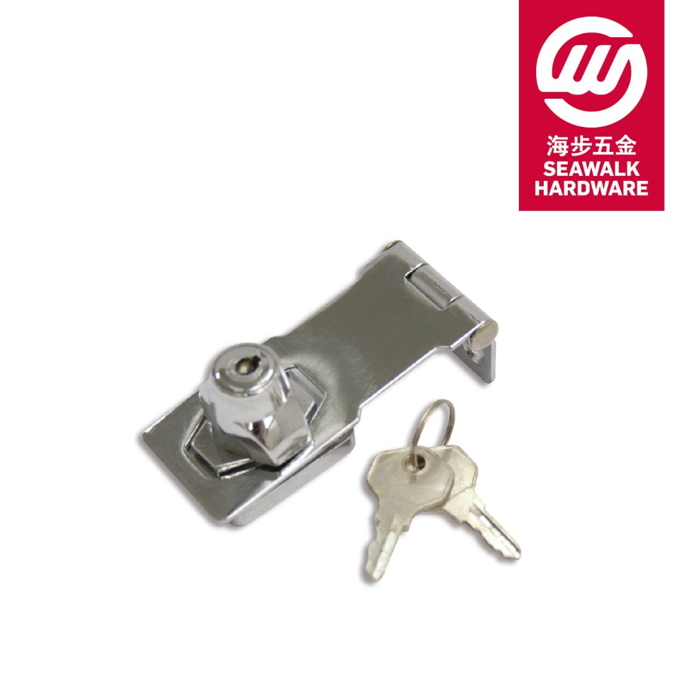 Steel with Zinc Locking Body Door Hasp, Door Security Keyed Hasp Lock, LOcking Cylinder Hasp Staple