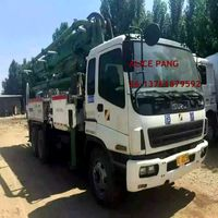Used concrete pump truck with Japan-Isuz-chassis at low price