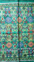 Ikat fabric endek bali songket lilin green colour