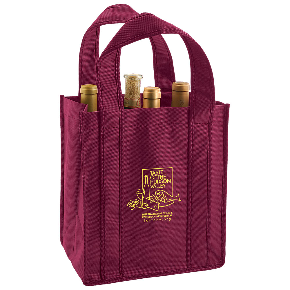 "6 Bottle Wine Tote Bag - fits 6 wine bottles, features 36"" handles and comes with your logo."