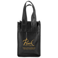 "2 Bottle Wine Tote Bag - fits 2 wine bottles, features 20"" handles and comes with your logo."
