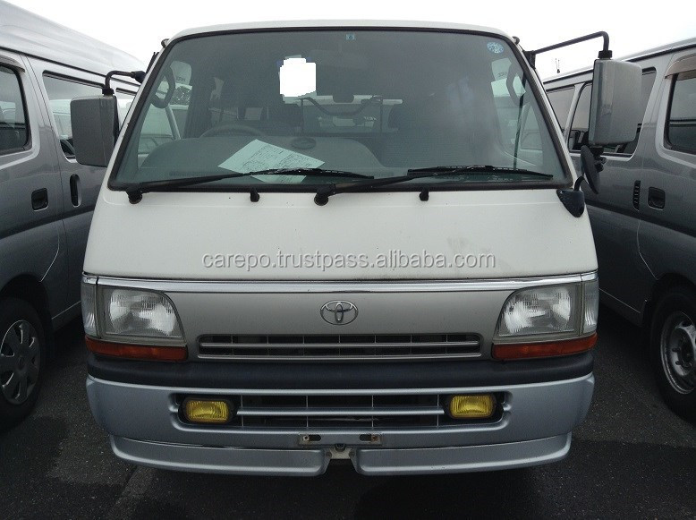 JAPANESE USED CARS FOR TOYOTA HIACE VAN LONG SUPER GL LH113V EXPORTED FROM JAPAN