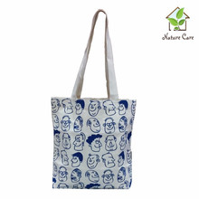 100 % cotton canvas printed tote bag/High Quality Fashion Cotton Canvas Bag promotional Natural Cotton tote Bag