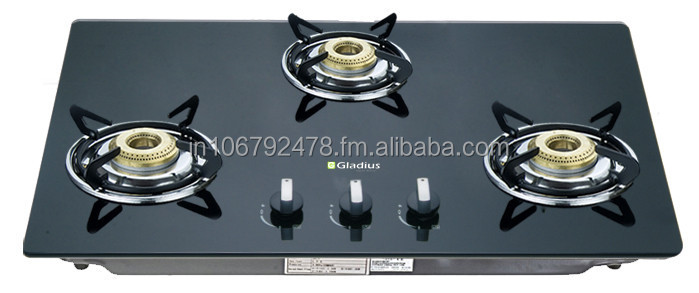 Gladius Built In Brass 3 Burner Hob