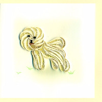 quilling paper card for paper quilling dog pictures