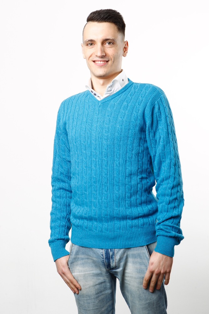 Man fashion sweaters in Cashmere blend